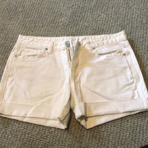 Loft White Denim Shorts